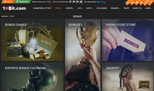1xBit Bonus Page Screenshot
