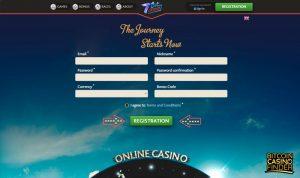 7BitCasino Sign-Up Page Screenshot