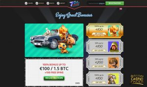 7BitCasino Bonus Page Screenshot