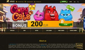Argo Casino Bonus Screenshot