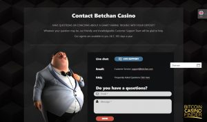 Betchan Contact Page Screenshot