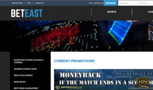 BetEast screenshot - Bitcoin Casino Finder