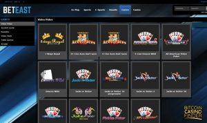 BetEast Games Page Screenshot