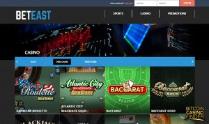 BetEast Table Games Screenshot