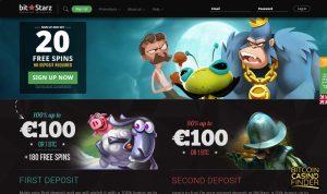 Bitstarz Homepage Screenshot