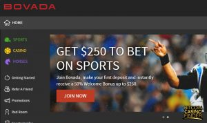 Bovada Bonus Page Screenshot