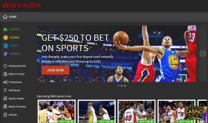 Bovada Homepage Screenshot