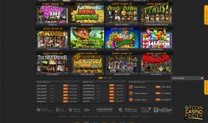 FortuneJack Games Page Screenshot
