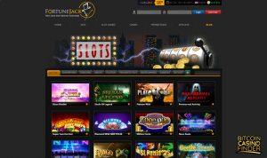 FortuneJack Softbet Slots Page Screenshot
