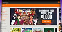 Ignition Casino Homepage Screenshot