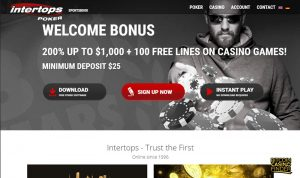 Intertops Bonus Page Screenshot