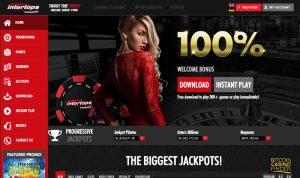 Intertops Homepage Screenshot