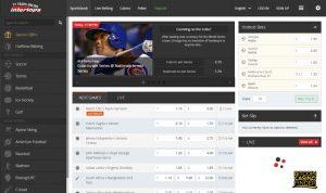 Intertops Sportsbook Page Screenshot