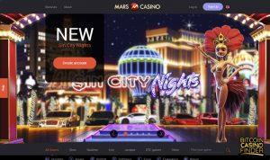 Mars Casino Homepage Screenshot