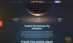 Mars Casino About Us Homepage Screenshot