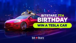 BitStarz Birthday Celebration - Win a Brand New Tesla Model 3