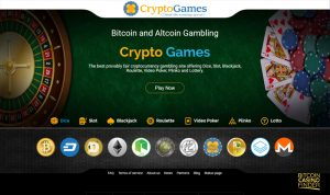 Crypto-Games.net Homepage Screenshot