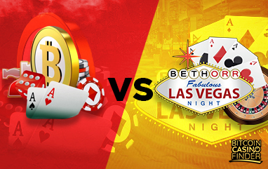 Face Off: Bitcoin Casinos vs Las Vegas Casinos