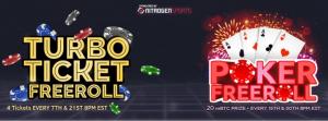 Bitcoin Poker Freerolls Banner 1