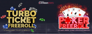 Bitcoin Poker Freerolls Banner
