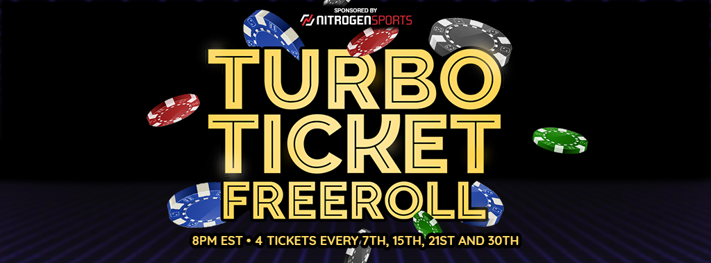 Nitrogen Sports Turbo Ticket Freeroll Banner